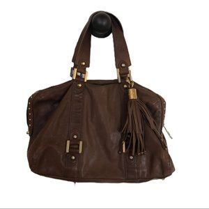 Juicy Couture Brown Leather Satchel Purse
